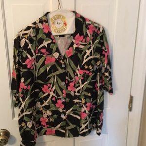 California style L silk shirt